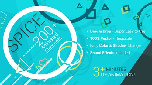 SPICE - 200+ Animated Elements - Project for After Effects (Videohive)