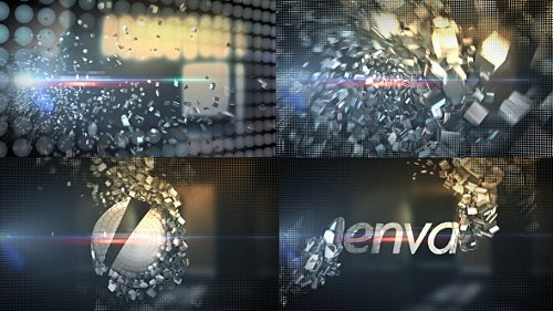 Metallic Crystal Logo Text Reveal - Project for After Effects (Videohive)