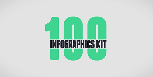100 Infographics Kit - Project for After Effects (Videohive)