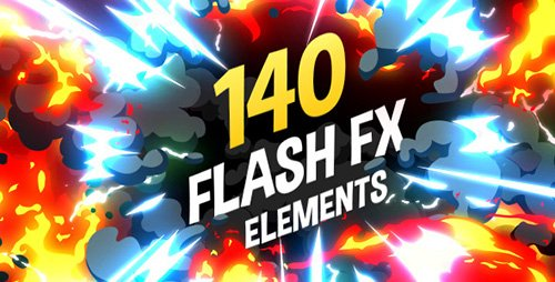 140 Flash FX Elements - Project for After Effects (Videohive)