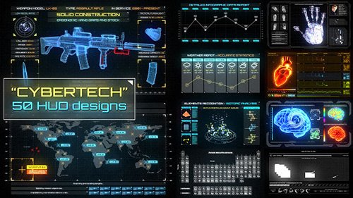 CyberTech HUD Infographic Pack - Project for After Effects (Videohive)