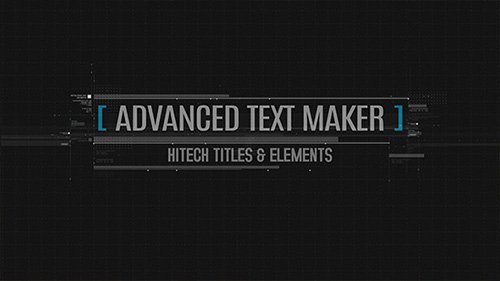 Advanced Text Maker - Project for After Effects (Videohive)