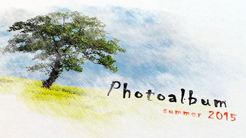 Pencil Watercolor Photo Album - Project for After Effects (Videohive)