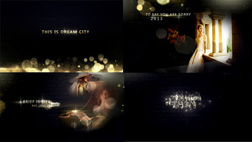 Gold Particles Photo And Postcard Opener - Project for After Effects (Videohive)