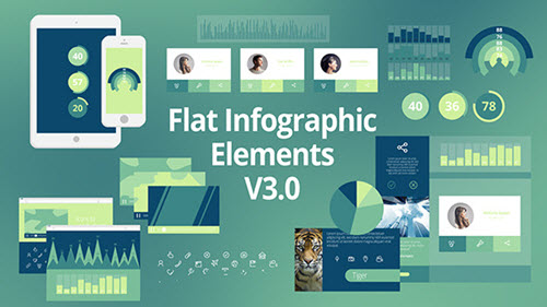 Flat Infographic Elements V3.0 - Project for After Effects (Videohive)