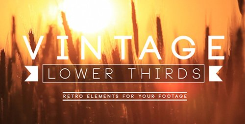 Vintage Lower Third - Project for After Effects (Videohive)