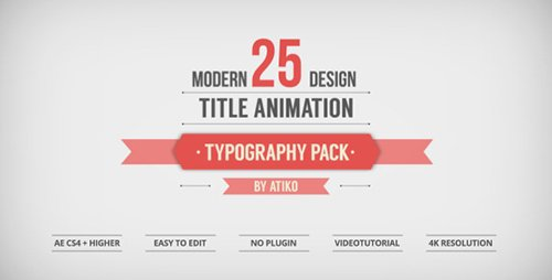 25 Design Titles Animation - Typography Pack - Project for After Effects (Videohive)