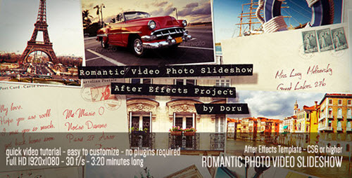 Romantic Photo Video Slideshow - Project for After Effects (Videohive)