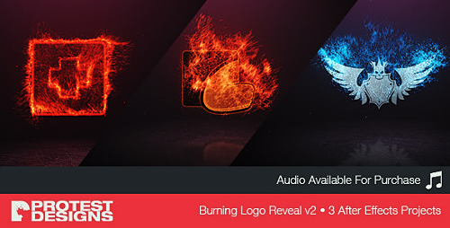 Burning Logo Reveal v2 - Project for After Effects (Videohive)