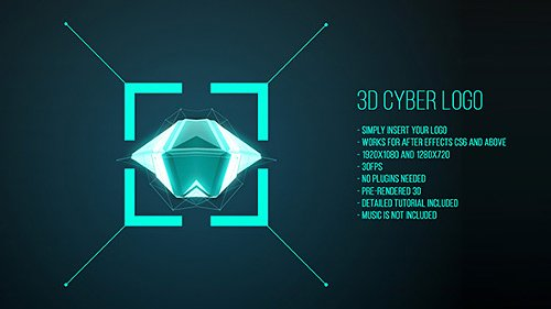 3D Cyber Logo - Project for After Effects (Videohive)
