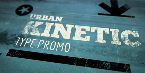 Urban Kinetic Type Promo - Project for After Effects (Videohive)