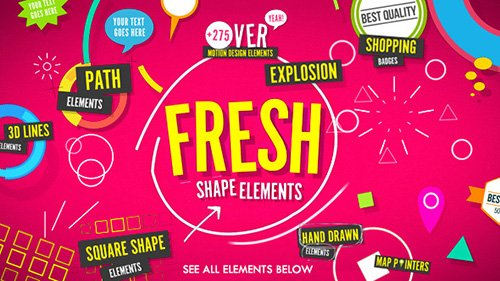 Shape Elements Fresh - Project for After Effects (Videohive)