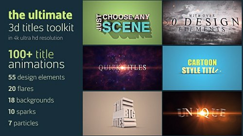 Ultimate 3D Titles Toolkit - Project for After Effects (Videohive)