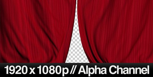 Realistic Red Curtains Closing- Motion Graphics (Videohive)