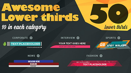 Lower Third - Project for After Effects (Videohive)