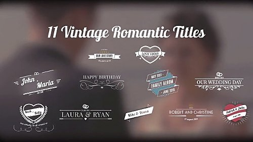 Motion Array - Vintage Romantic Titles After Effects Template