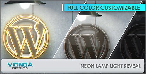 Neon Lamp Light Reveal - Project for After Effects (Videohive)