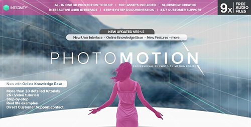 PhotoMotion - Professional 3D Photo Animator - Project for After Effects (Videohive)