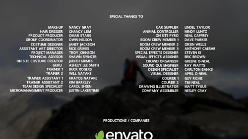 Film Credits - Project for After Effects (Videohive)