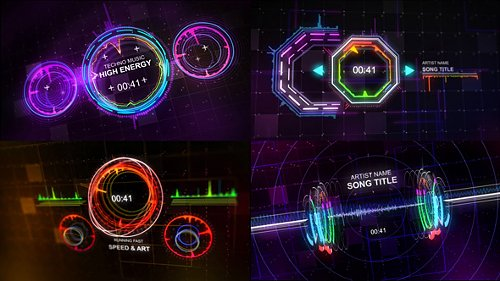 Techno Music Visualizer - Project for After Effects (Videohive)