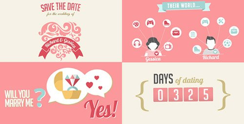 The Two Of Us Love Story Timeline & Save The Date - Project for After Effects (Videohive)