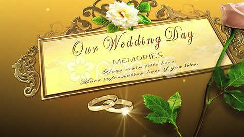 Our Big Day Memories - After Effects Template (pond5)