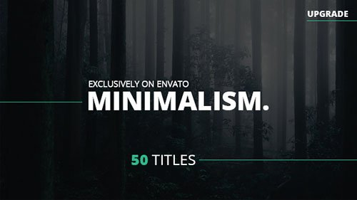 Minimalism - Project for After Effects (Videohive)