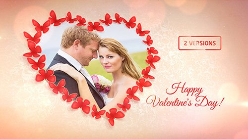 Sweet Butterflies: Valentine's Day Card - Project for After Effects (Videohive)