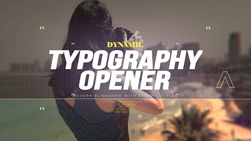 Dynamic Typography Opener - Project for After Effects (Videohive)