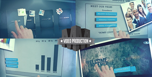 Touch Screen Presentation - Project for After Effects (Videohive)