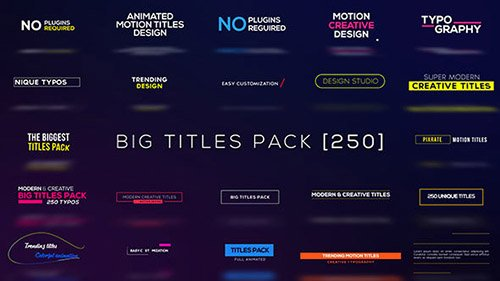Big Titles Pack [250] - Project for After Effects (Videohive)