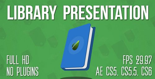 Library or Bookstore Presentation - Project for After Effects (Videohive)