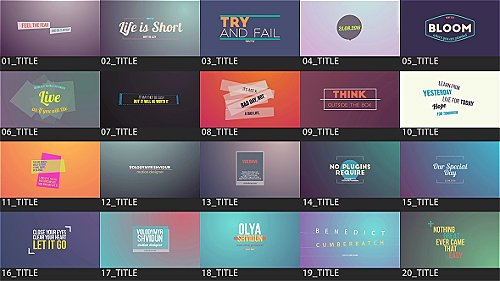 Motion Titles Pack - Project for After Effects (Videohive)