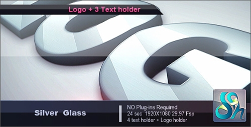 Silver Glass Logo - Project for After Effects (Videohive)