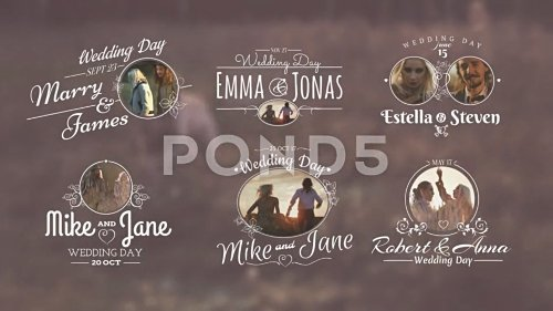Wedding Titles - Project for After Effects (Pond5)