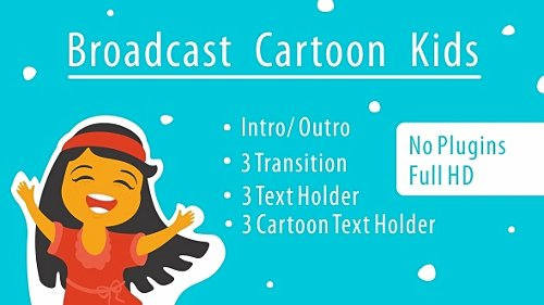 Broadcast Cartoon Kids - Project for After Effects (Videohive)