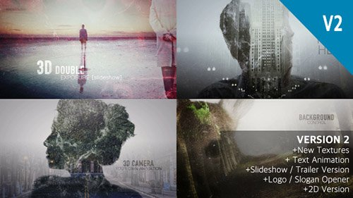 2D and 3D Double Exposure Pack - Project for After Effects (Videohive)