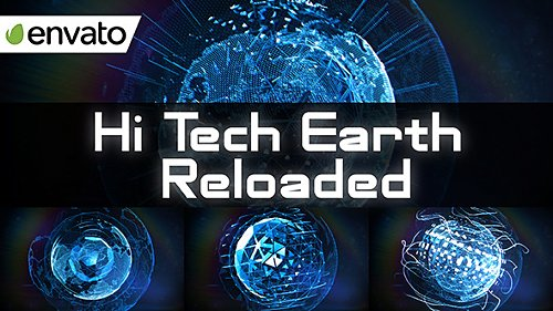 Hi Tech Earth Reloaded / Element 3D - Project for After Effects (Videohive)