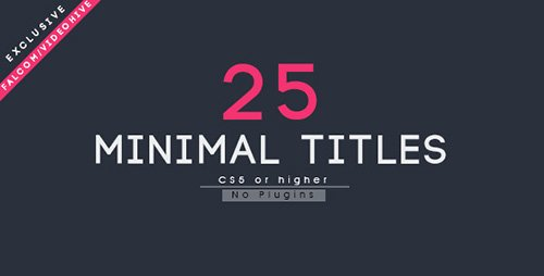 25 Minimal Titles - Project for After Effects (Videohive)