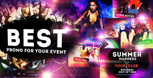 Colourful Party/Event - Disco Night Club Promo - Project for After Effects (Videohive)