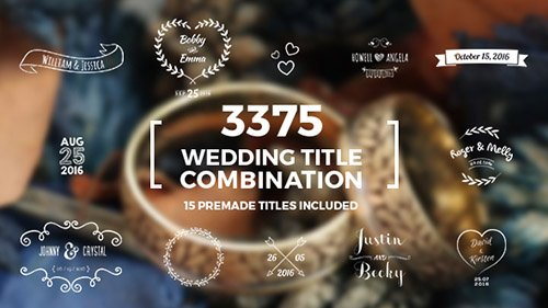 Elegant Wedding Title Combination Pack - Project for After Effects (Videohive)