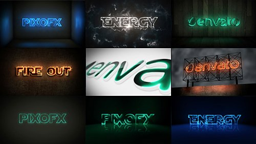 Multi Light Kit - Fire Light Neon Energy Composer - Project for After Effects (Videohive)