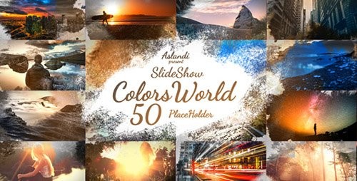 Colors World Ink Slideshow - Project for After Effects (Videohive)