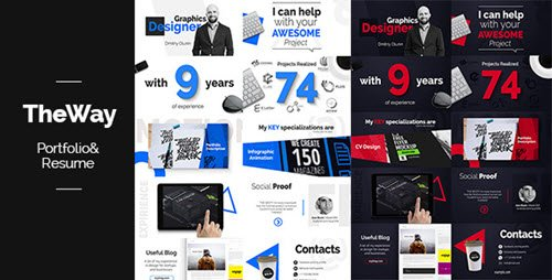 TheWay - Portfolio & Resume - Project for After Effects (Videohive)