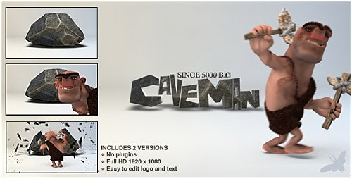 Caveman Logo - Project for After Effects (Videohive)