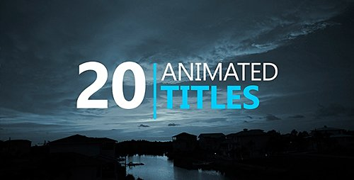 20 Animated Titles - Project for After Effects (Videohive)