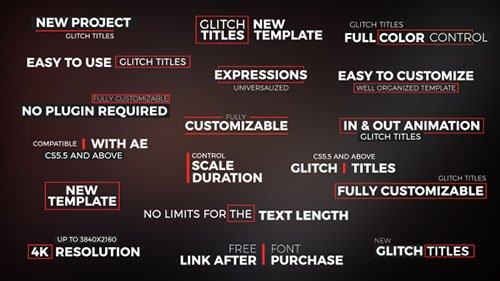 Glitch Titles 16318891 - Project for After Effects (Videohive)