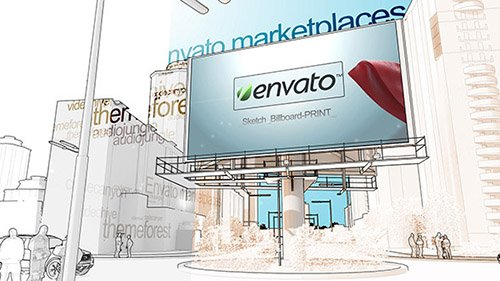 Sketch Billboard - Project for After Effects (Videohive)