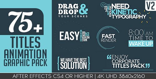 Titles Animation Graphic Pack V2 - Project for After Effects (Videohive)