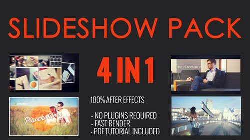 SlideShow Pack 4 in 1 - Project for After Effects (Videohive)